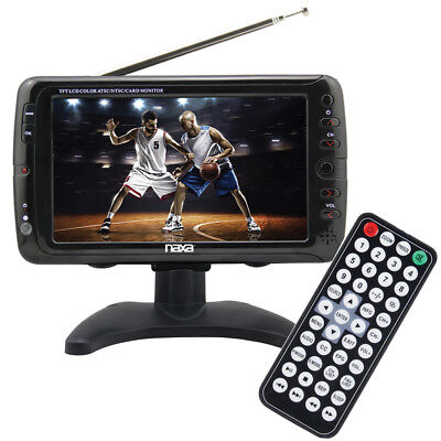 "Portable 7"" Tv & Multimedia Player With Remote Control, by Collections Etc"