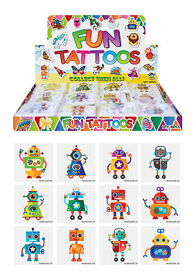 72 Robot Temporary Tattoos - Pinata Toy Loot/Party Bag Fillers Wedding/Kids