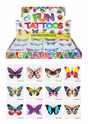 72 Butterfly Temporary Tattoos - Pinata Toy Loot/Party Bag Fillers Wedding/Kids