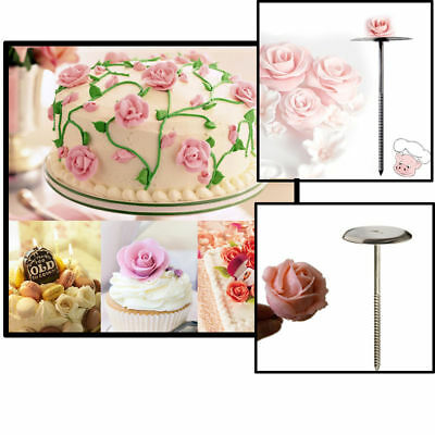 Stainless Steel Cupcake Icing Cake Decorating Flower Needle DIY Party
