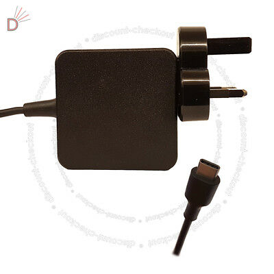 FOR Lenovo Yoga 720 910 Miix 720-12IKB USB-C Charger Adapter 45W WITH UK PLUG