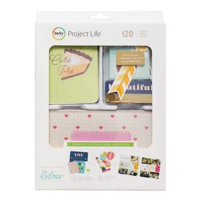 NEW Project Life Value Kit 120 pack Garden Party with Gold Foil