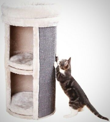 TRIXIE Gray Mexia 2 Story Cat Tower Kitty Home Playing Pet Care Climbing NEW