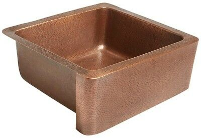 Single Basin Copper Kitchen Sink Handmade Pure Solid Antique Copper Apron Front