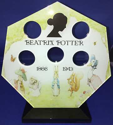 Beatrix Potter 50 pence 50p Coin Hunt Album Royal Mint Stand Display Holder