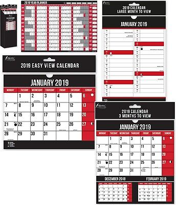 Anker 2019 Hanging Wall Calendar Large Month to View,Three Months to View A1 New