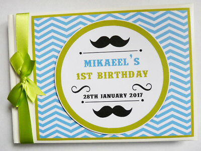 Personalised Little Man First/1St Birthday Guest Book - Any Design