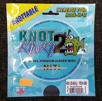 Knot 2 Kinky Nickel Titanium Leader Wire 15ft Single Strand Various B.S.
