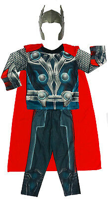 New Size 2-12 Kids Costume Avenger Marvel Thor Boys Dress Up Party Toy Gift Hero