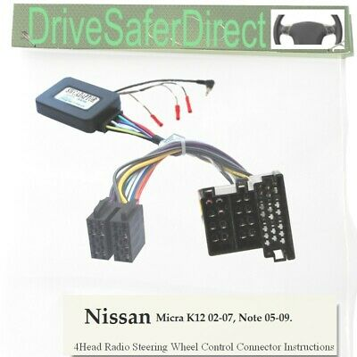 ANAlogz-SWC-5236-02 Stalk Adaptor for Android ISO Radio/Nissan Note 05-09