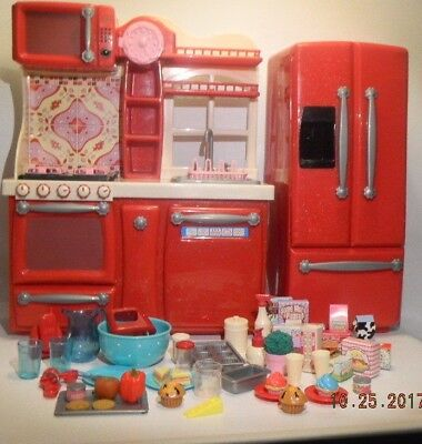 RED GOURMET KITCHEN SET Our Generation American Girl 18\