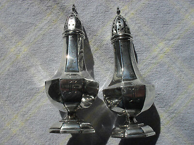 Antique Mount Vernon Co. Sterling Octagonal Salt & Pepper Set