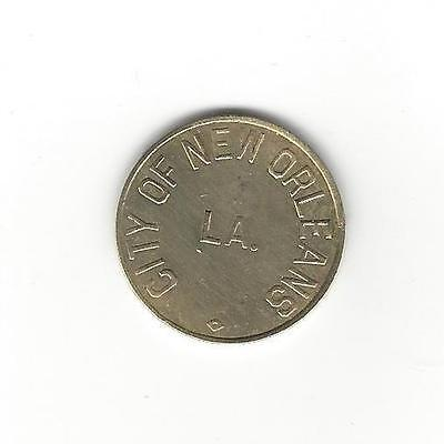 New Orleans Louisiana LA - 1950s City Of New Orleans Parking token