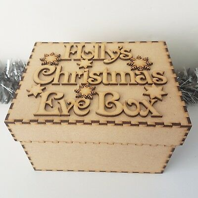 Personalised Children's MDF Christmas Eve Box Xmas Eve Gift Box Any Name 2 Sizes