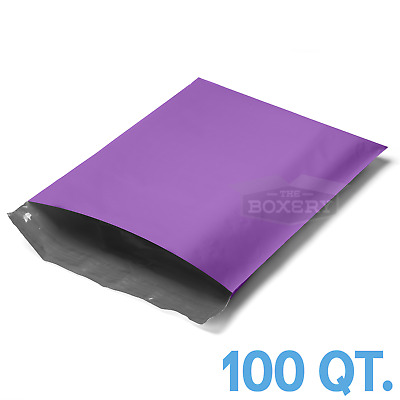 100 - 9X12 PURPLE POLY MAILERS ENVELOPES BAGS - 2.5MIL from The Boxery