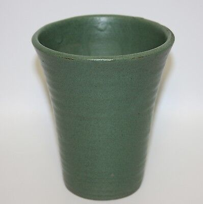 Beautiful Arts And Crafts Mission Green Tumbler By Zanesville Stoneware Co.