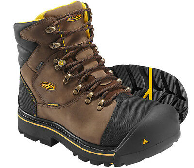 "KEEN Utility Men's Milwaukee WATERPROOF 6"" Steel Toe Safety Work Boots Brown"