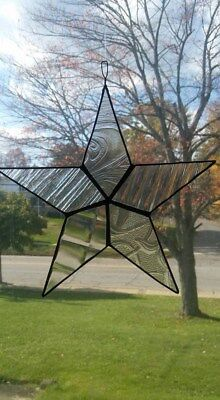 stained glass, star, sun catcher, hand crafted, ornament, leaded glass, USA