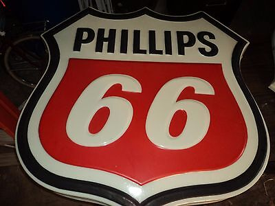 """Phillips 66 Gas Station Lighted Raised Letters Sign  3'6"""" X 3'6"""""""