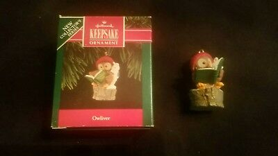 New in Box Hallmark Ornament 1992 OWLIVER OWL FIRST 1ST IN SERIES