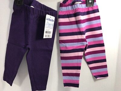 6fc1d38b0447 JOJO MAMAN BEBE Baby Girls  Leggings w  Feet 2 Pack - Navy Striped 6 ...