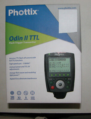 Phottix Odin Ii Ttl Wireless Flash Trigger For Canon, Transmitter Only, New.