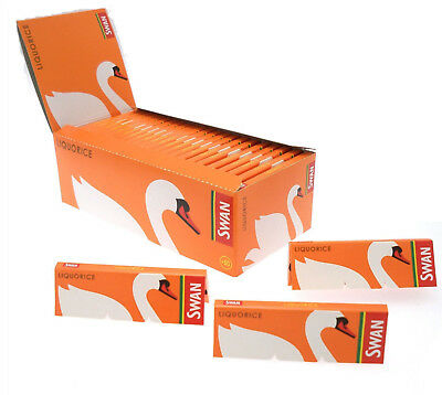 Full Box of 50 Swan Liquorice Flavour Rolling Cigarette Papers Free P&P £14.99