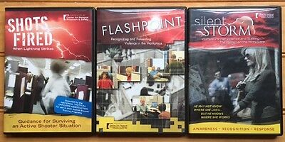 LOT of 3 WORKPLACE VIOLENCE Instructional Videos   NICE!