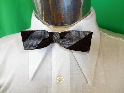 Vintage Black Grey Adjustable Acrylic Polyester Bow Tie Steampunk Prom Formal
