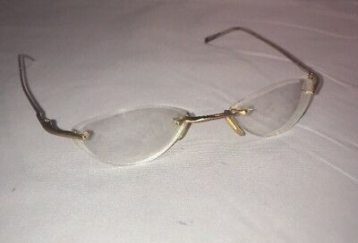0627a826729d Safilo Enigma Omega W2R Gold Eyeglasses Frames MADE IN ITALY 55   33 130