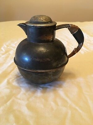 Vintage Sheffield Silver On Copper Pitcher With Lid