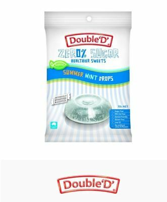 12 x 70g DOUBLE D HEALTHIER SWEETS Sugar Free Summer Mint Drops ( total 840g )