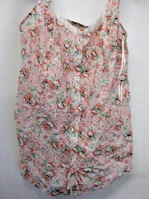 Mothercare M2b Maternity English Rose Multi-coloured Singlet Top 100% Cotton