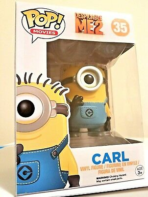 NEW Funko Pop! Despicable Me 2 Movie Carl Minion Vinyl Figure #35 Action Figure