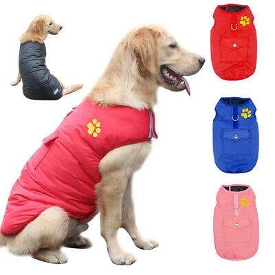 Waterproof Big Dog Clothes Reversible Winter Small to Large Dog Doggie Coat