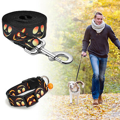 [Ultra-Strong] Adjustable Breathable Nylon Leash Lead+Collar For Dog Pet Puppy