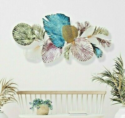 Tree of Life Metal Wall Art Hanging Iron Sculpture Garden Ornament Leaves 95cm