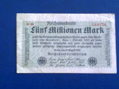 Germany - 5 Million Mark 1923 - Very Fine