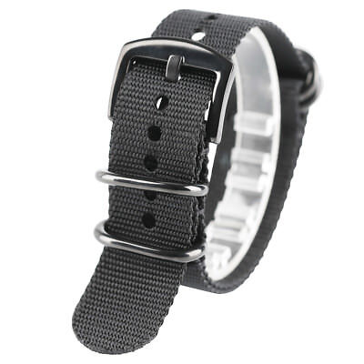 Fabric Woven Nylon Watch Strap Band Military Sports Replacement Belt 20 22 24mm