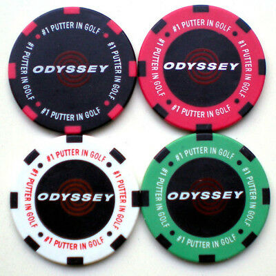 Set of 4 Odyssey Poker Chips Ball Markers - BRAND NEW - Perfect for your mates