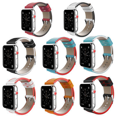 Genuine Leather iWatch Strap Watch Band For Apple Watch Series 1&2&3 38/42mm