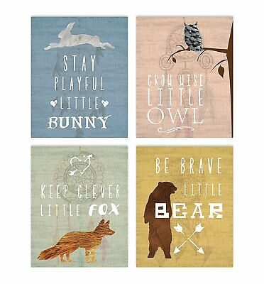 "Woodland Nursery, Collection Inspirational Animals 8x10"" Print, Nursery Decor,"