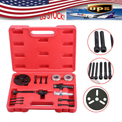Automotive Air Conditioning Car Compressor Clutch A/C Puller Remover Tool Kit AU