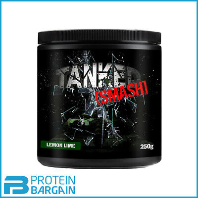 Tanked Smash Pre-Workout 50 Strong Servings Lemon & Lime Flavour Best Price