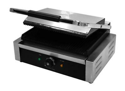 """Professional Single Contact Panini Grill 12 month Commercial """"on site"""" Warranty"""
