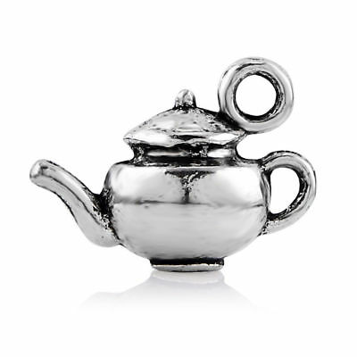 10pcs Tibetan Silver 3D Teapot Kettle Charm Pendant Antique Beads 18*10MM