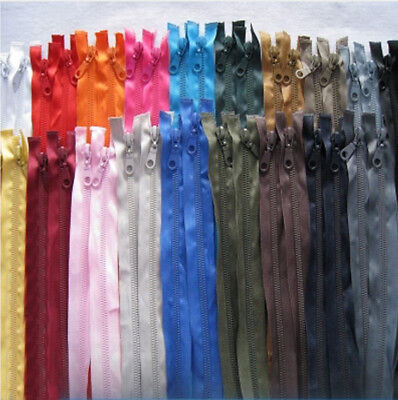 12Pcs 5# 80CM Open End Resin Zippers For DIY Sewing Coat Jacket  15 colors