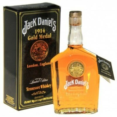 Jack Daniels 1914 Gold Medal Tennessee Whiskey 750Ml Rare Collectors Box/tag