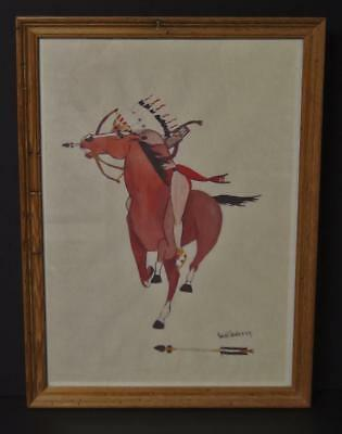 CARL SWEEZY ARAPAHO INDIAN PAINTING Lot 28