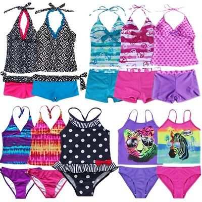 Girls Kid One Piece Polka Dot Bikini Swimsuit Swimwear Bathers Swimmers 2-16